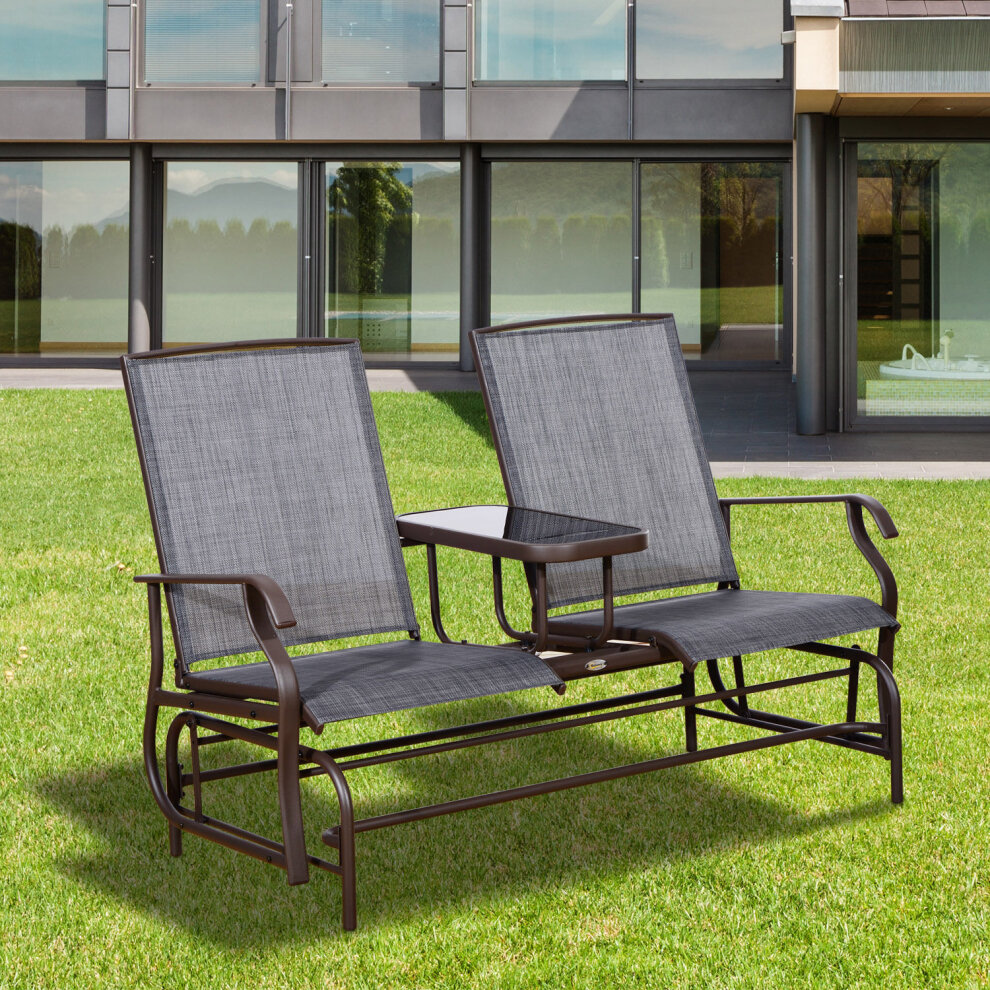 Outsunny 2 Seater Rocker Double Rocking Chair Lounger ...