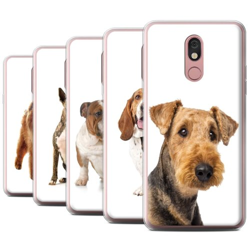 Dog Breeds LG Stylo 5 Phone Case Transparent Clear Ultra Soft Flexi Silicone Gel/TPU Bumper Cover for LG Stylo 5