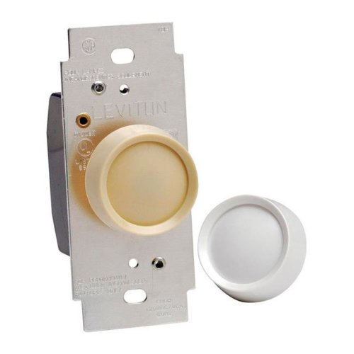 120 amp 600 Rotary Dimmer Knob White & Light Almond