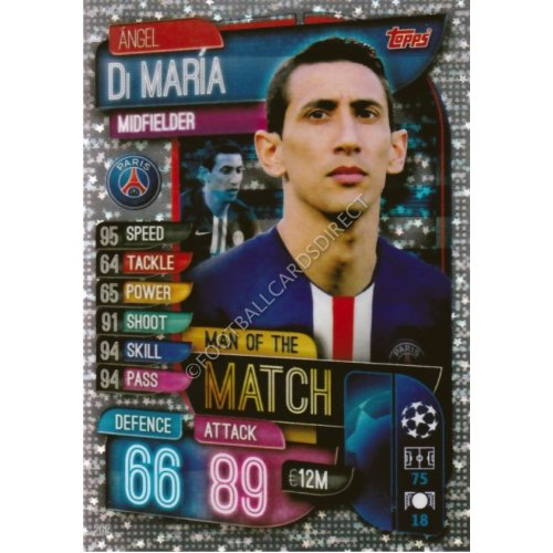 MATCH ATTAX 2019/20 MAN OF THE MATCH ANGEL DI MARIA PSG