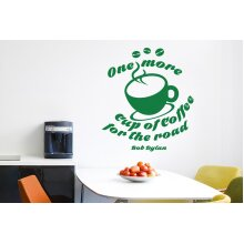 Bob Dylan One More Cup Of Coffee For The Road Wall Stickers Art Decals - Large (Height 57cm x Width 65cm) Green