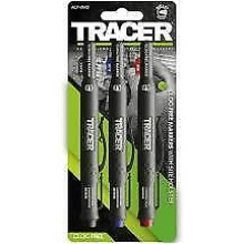 TRACER ACF-MK3 Clog Free Markers 3pk (Black,Blue & Red)