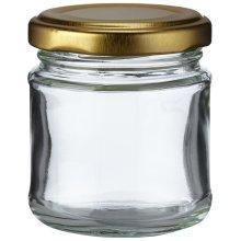 Nutley's 100ml Small Glass Jam Chutney Marmalade Jar (Pack of 12)