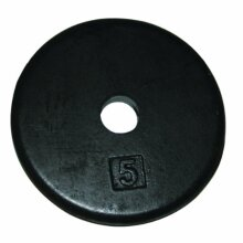 CanDo 100602 Iron Disc Weight Plate, 5 lb