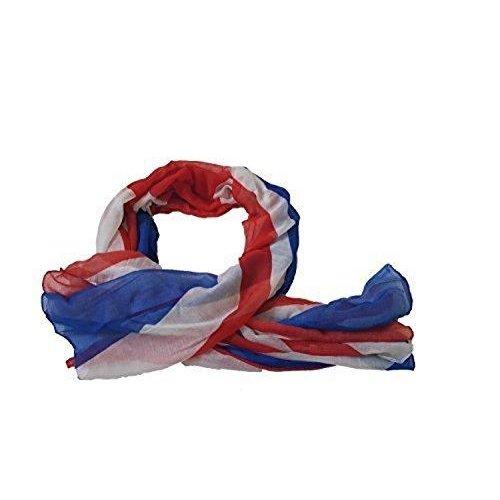 UK Flag Print Scarf Union Jack Womens London Fashion Souvenir Scarves