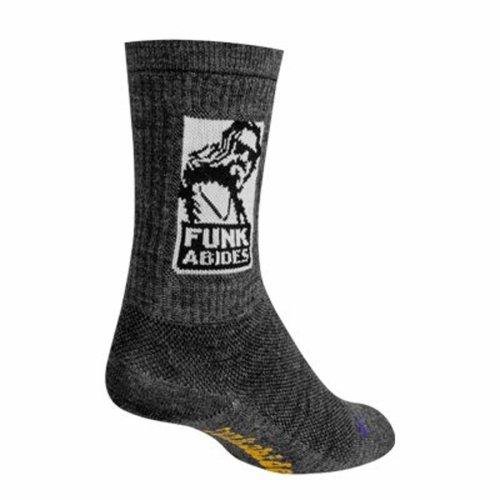 "Socks - Sockguy - 6"" Wool Crew Funk Abides S/M Cycling/Running"