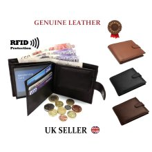 Mens Leather Wallet High Quality Genuine Slim Card