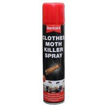 Rentokil Clothes Moth Killer Spray, Black, 5.2x5.2x23.6 cm