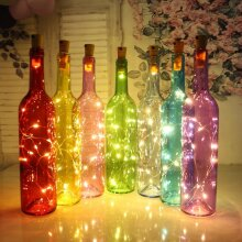 Silver Wire Fairy Garland LED string lights Bottle Stopper For Glass Craft
