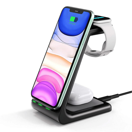 (Apple iPhone) 3 In 1 Qi Enabled Wireless Charging Station