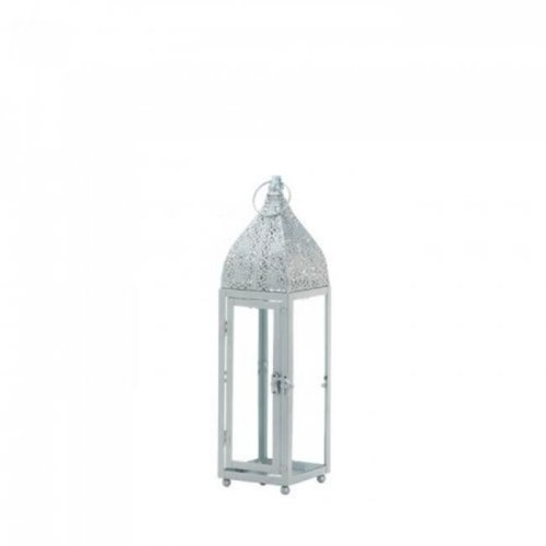 Gallery of Light 10018513 Small Silver Moroccan Style Lantern