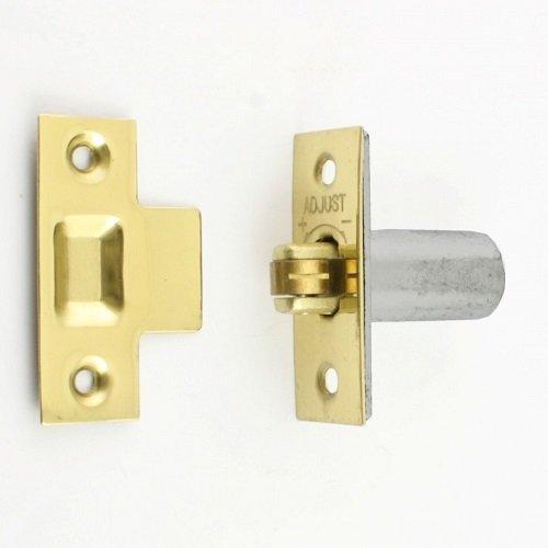 BRASS PLATED ADJUSTABLE ROLLER CATCH DOOR WITH SCREWS