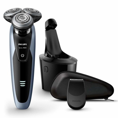 Philips Series 9000 Wet & Dry Men's Electric Shaver S9211/26 with Precision Trimmer and SmartClean System (UK 2-Pin Bathroom Plug)