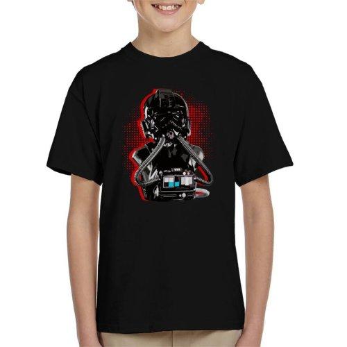 Original Stormtrooper Imperial TIE Pilot Red Burst Kid's T-Shirt