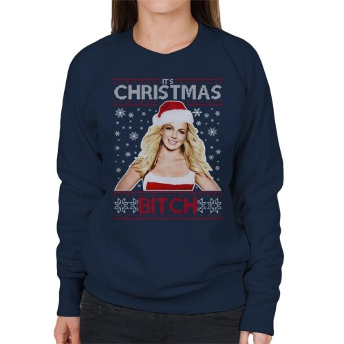 Britney Spears Its Christmas Bitch Knit Pattern Women's Sweatshirt