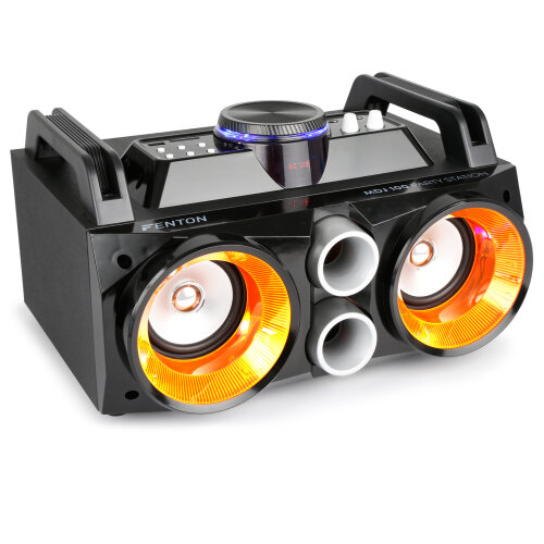 Fenton MDJ100 LED Portable Bluetooth Boombox