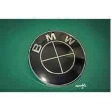 Modifix - BMW Black Badge Emblem Logo Replacement Front Rear 82mm for BMW 1 2 3 4 5 6 7 Series M Sport