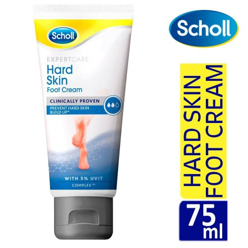 Scholl Expert Care Hard Skin Foot Cream 75ml With Uvit Complex