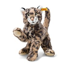 Steiff 064234 Ozzi Tiger Cat Striped Soft Toy, Brown, 32 cm