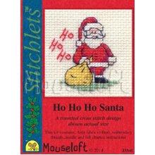 Mouseloft - Counted Cross Stitch Kit - Card Christmas Stitchlets Collection - Ho Ho Ho Santa