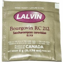 Lalvin RC 212 Yeast Red Wine 5g Sachet Homebrew Wine Making 4.5L-23L Pinot Noir
