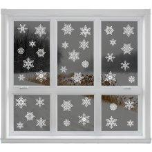 42 Elegant Snowflake Christmas Decor Window Clings