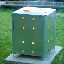 Nature Garden Incinerator Galvanised Steel 46x46x65 cm Rubbish Burner 6070463