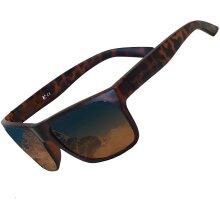 Milan Casual Sunglasses Matt Black /Brown with Smoke Lens