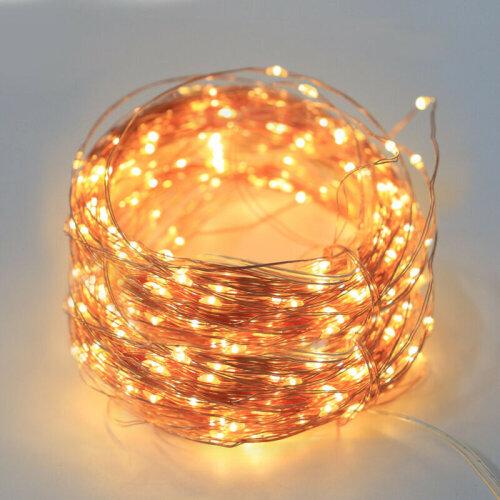(Warm White) 10m LED Solar Fairy String Fence Lights Waterproof