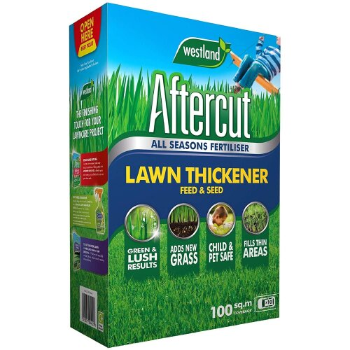 Aftercut Lawn Thickener Feed and Seed, 100 m2, 3.5 kg, Brown