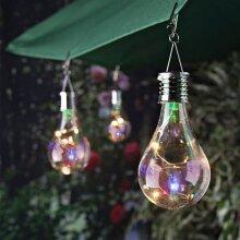 Hanging Solar Powered LED Light Bulbs Lantern Spotlights Rotatable