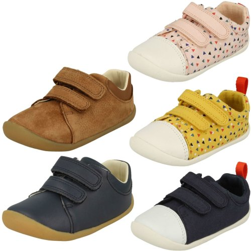 Childrens Boys Girls Clarks Pre-Walking Shoes Roamer Craft - F Fit