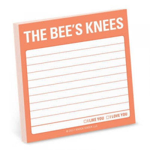 Knock Knock The Bees Knees Sticky Note by Knock Knock