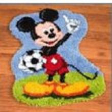 """Latch Hook Rug Kit""""Mickey Mouse""""52x45cm Shaped"""