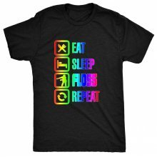 8TN Eat Sleep Floss Rainbow Repeat - Dance Moves Hip Hop Womens T Shirt