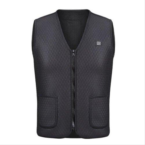 (M) Electric Heated Vest Jacket USB Warm Heating Pad Body Warmer Winter Men Women