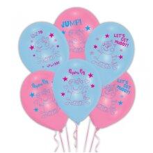 Peppa Pig Latex Party Balloons 6pk