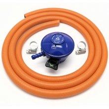 Cavagna 21Mm 28Mbar Butane Gas Regulator & 1 M Hose + 2 Hose Clips 5 Y Warranty