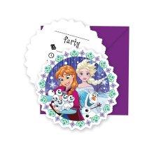 Invitations invitation invitation card Frozen Snowflakes Kids Birthday Party 6 pieces Size