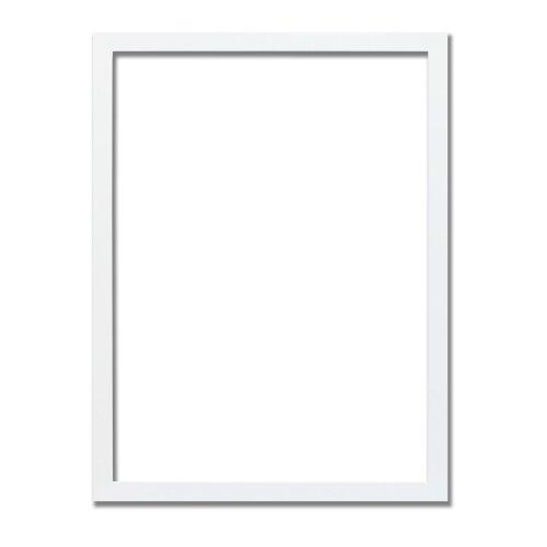 (White, 24x18 Inch) Thin Matt Picture Photo Frames, Flat Profile Art Poster Frames Black, White, Walnut & Grey Thin Photo Frames