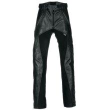 Richa Black Freedom Short Womens Motorcycle Leather Pants - UK 14