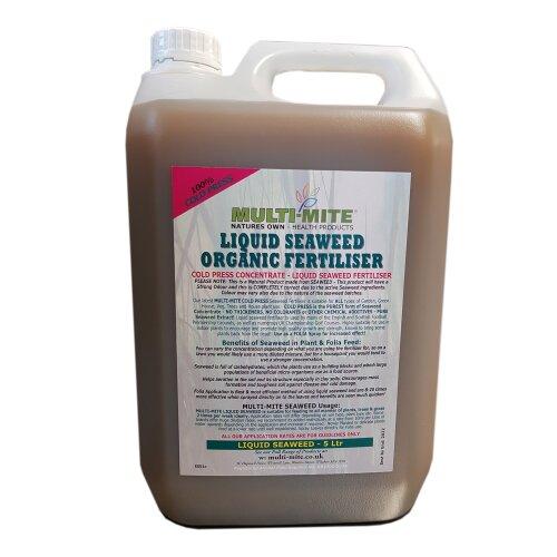 Multi Mite Liquid Seaweed Organic Concentrate Fertiliser - 5L