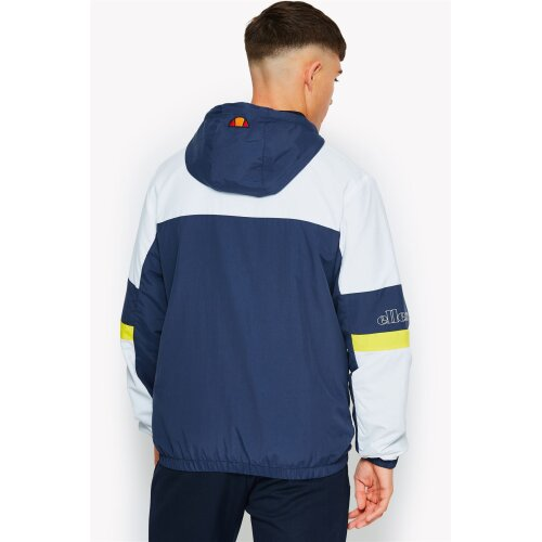 Ellesse Plateau Woven Hoody Zip Up Jacket in Navy Blue & White SHA06351 [S]
