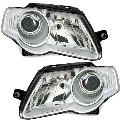 Volkswagen Passat Mk5 6/2005-3/2011 Headlights Headlamps 1 Pair O/s & N/s