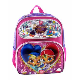 """Small Backpack - Shimmer and Shine - Ice Cream 12"""" New 009083"""