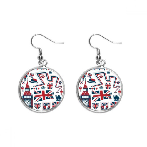 Big Ben Ballon Soldier UK  Landmark Ear Dangle Silver Drop Earring Jewelry Woman
