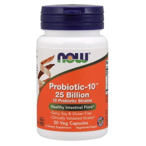 NOW Foods  Probiotic-10 , 25 Billion - 30 vcaps