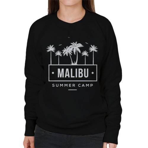 (Medium, Black) Malibu Summer Camp Women's Sweatshirt