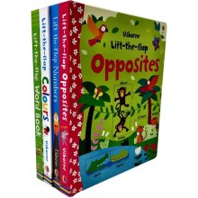 Usborne Lift the Flap Collection 4 Books Set by Felicity Brooks