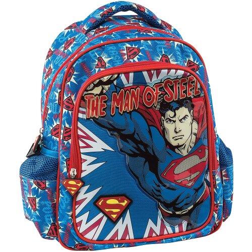 Graffiti Superman School Backpack, 30 cm, Blue